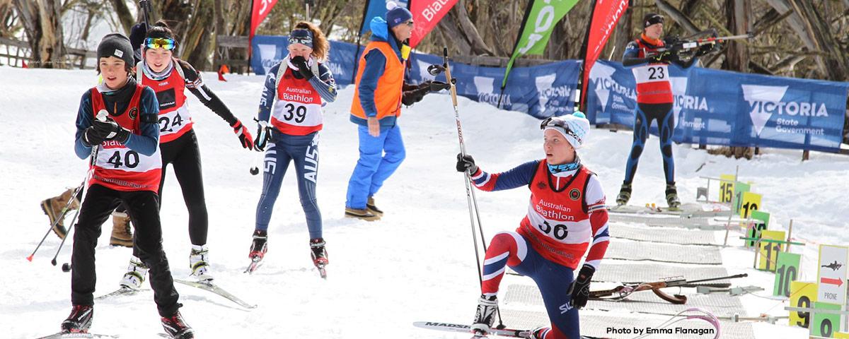 Under 18s at Australian Biathlon Championships - photo by Emma Flanagan