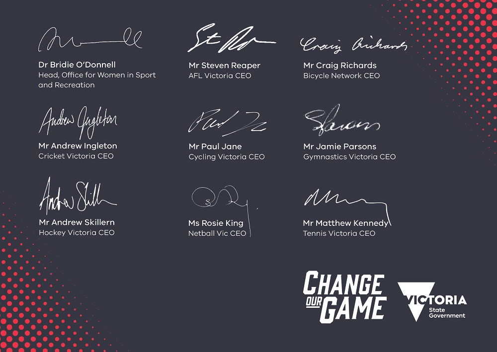 Change our Game Champions signatures