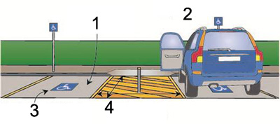 90 degree angled car parking bays